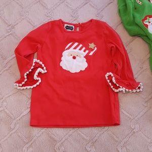 Mudpie 4t 5t girls Christmas Santa top
